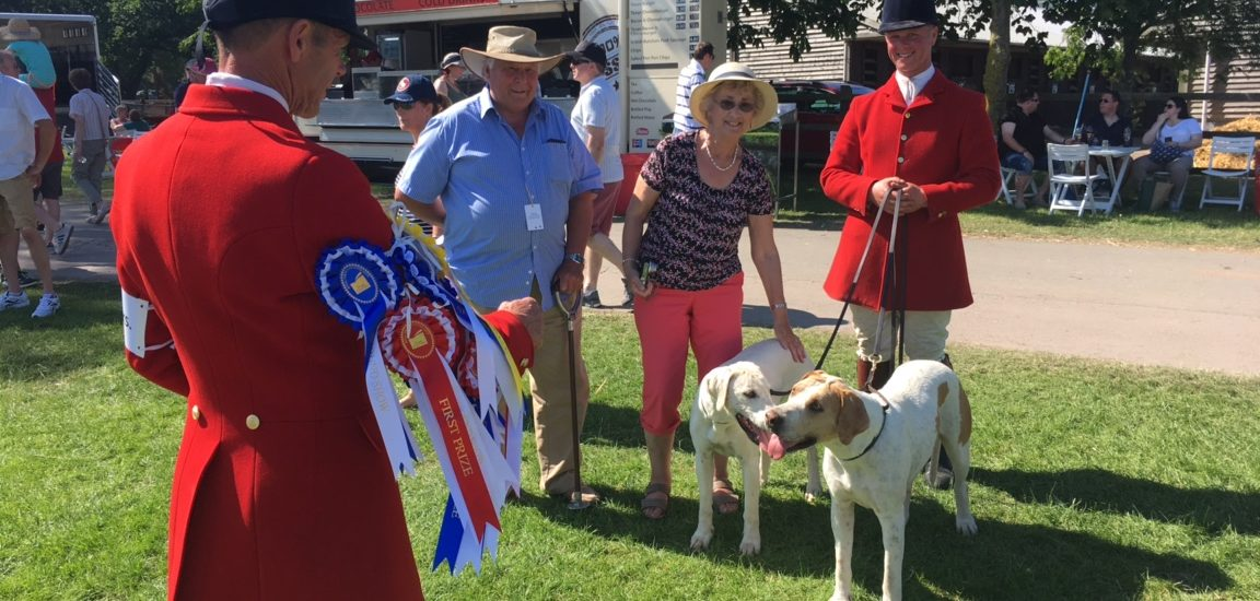 OBH at The Royal Three Counties Show with proud puppy walkers David and Brenda Corfield